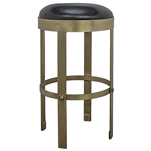 Prince Brass with Leather Counter Stool
