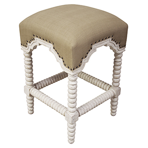 Abacus White Wash Counter Stool