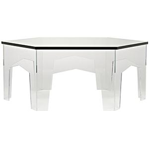 Kame Acrylic and Glass Coffee Table