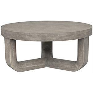 Joel Distressed Gray Coffee Table