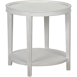 Imperial White Wash Side Table