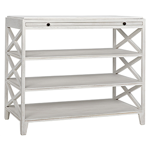 Sutton White Wash Criss-Cross Side Table