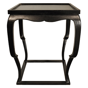 Bellini Hand Rubbed Black Side Table