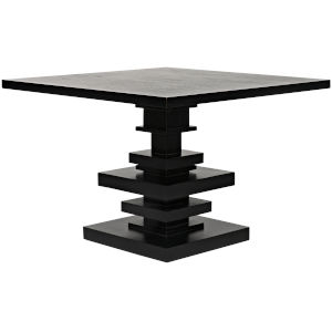 Corum Hand Rubbed Black 42-Inch Square Dining Table