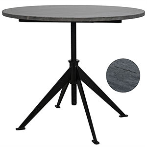 Matilo Metal Adjustable Table with Marble Top