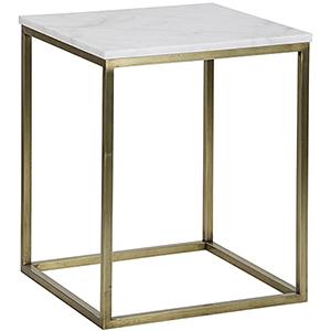 Manning Large Antique Brass Side Table