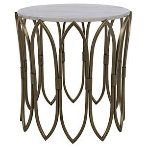 Nola Antique Brass Side Table