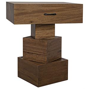 Grobius Dark Walnut Side Table