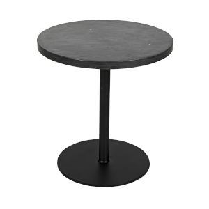 Ford Black Marble 20-Inch Side Table
