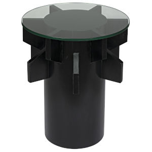 Torpedo Hand Rubbed Black 21-Inch Accent Table