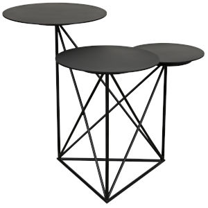 Carrier Black Metal Accent Table