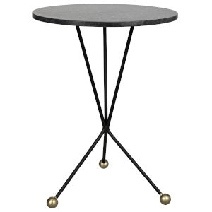 Elan Black Metal 20-Inch Accent Table