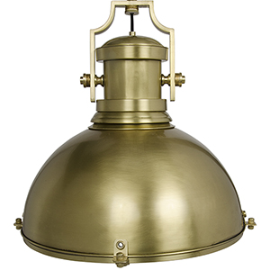 Marine Fixture Antique Brass One-Light Pendant