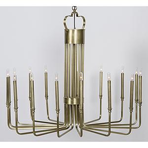 Kooper Antique Brass 16-Light Chandelier