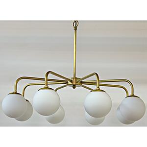 Larenta Antique Brass Eight-Light Chandelier