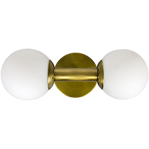 Antiope Antique Brass Two-Light Sconce
