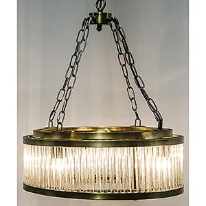 Petronas Antique Brass Four-Light Chandelier