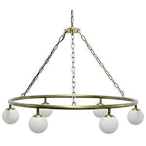 Modena Antique Brass Six-Light Chandelier