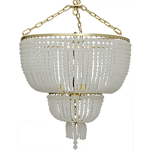 Karenina Antique Brass Three-Light Chandelier