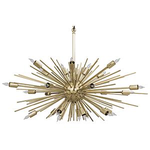 Loleil Antique Brass 27-Light Chandelier