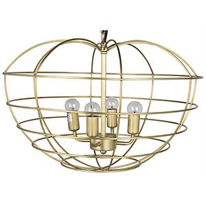 Mo Antique Brass Four-Light Pendant