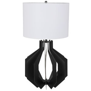 Cona Black 28-Inch One-Light Table Lamp