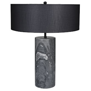 Thomas Black Marble Table Lamp