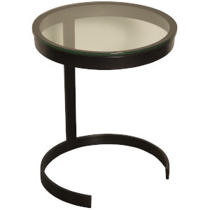 Coco Metal and Glass 17-Inch Side Table