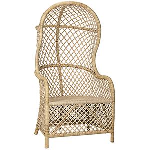 Gigi Birch and Rattan Chair