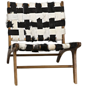 Kamara Black and White Armless Chair