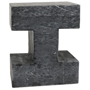 Gilliam Black Stone Accent Table