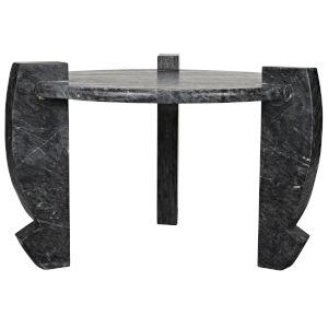 Loranzo Black Stone Cocktail Table