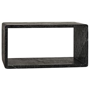 Foundation Large Black Marble Side Table