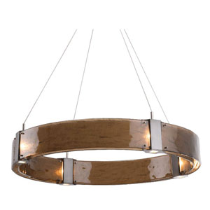 Parallel Flat Bronze 32-Inch 12-Light LED Chandelier with Bronze Granite Glass