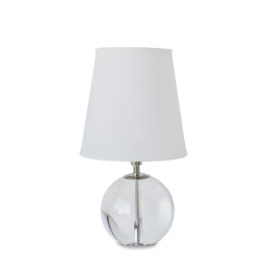 Transparent One-Light 8-Inch Table Lamp With Crystal