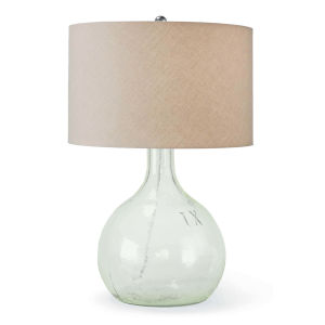 King Nine Transparent One-Light Table Lamp