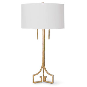 Le Chic Gold Two-Light Table Lamp