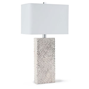 Modern Glamour Silver One-Light Table Lamp