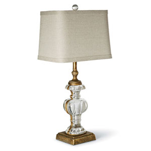 New South Antique Gold Leaf One-Light Table Lamp