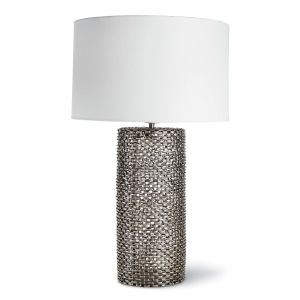 Chain Link Brass One-Light Table Lamp