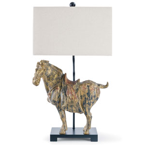 New South Blackened Steel One-Light Table Lamp