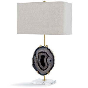 Exhibit Gold And Smoke Agate One-Light 18-Inch Table Lamp