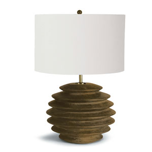 LA Modern Natural Accordion 26-Inch One-Light Table Lamp