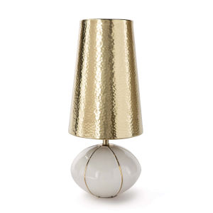 Roland Polished Brass One-Light Table Lamp