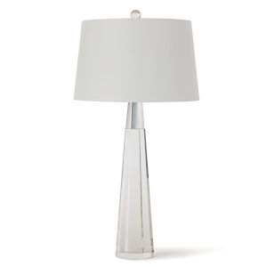 Carli Transparent One-Light Table Lamp
