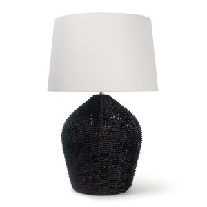 Georgian Black One-Light Table Lamp