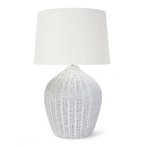 Georgian White One-Light Table Lamp