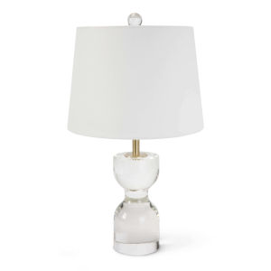 Joan Transparent One-Light 11-Inch Table Lamp