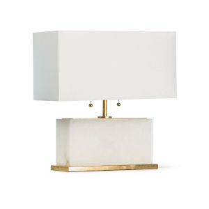 Ali Natural Stone Two-Light Table Lamp