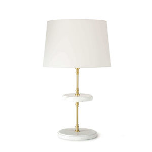 Bistro Natural Brass One-Light Table Lamp